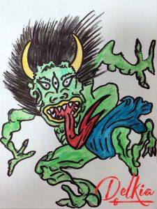 Japanese Village Oni Monster Dori of Death
